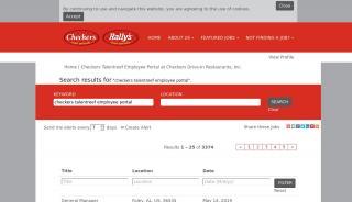Checkers Employee Portal