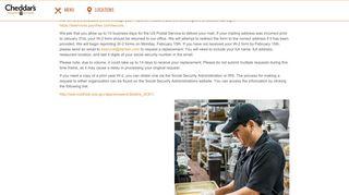 Cheddars Employee Portal