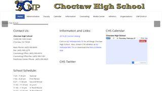 Choctaw High School Parent Portal