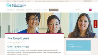 Chop Employee Portal