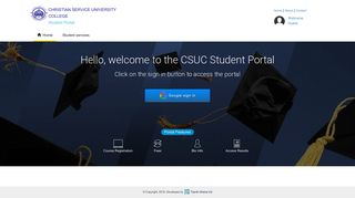 Christian Service University College Portal