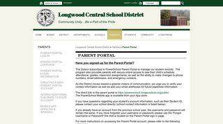 Cics Longwood Parent Portal