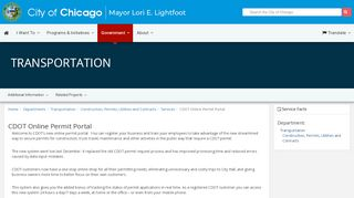 City Of Chicago Permit Portal