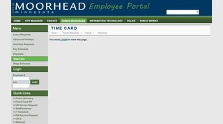 City Of Moorhead Employee Portal