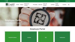 Cogdell Memorial Hospital Employee Portal
