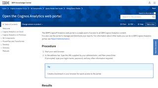 Cognos Web Portal