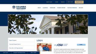 Columbia Southern Student Portal
