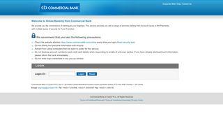 Commercial Bank Online Portal
