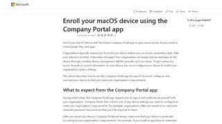 Company Portal App Mac