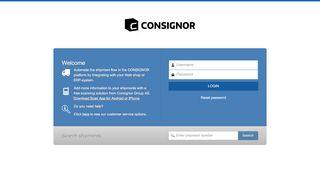 Consignor Web Portal