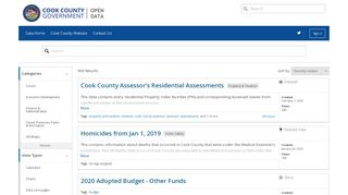 Cook County Data Portal