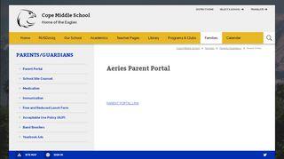 Cope Middle School Parent Portal