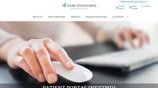 Core Physicians Patient Portal
