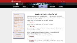 Cornell Housing Portal