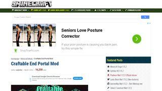 Craftable End Portal Mod 1.12 2