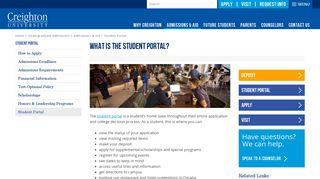 Creighton Student Portal