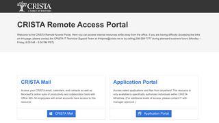 Crista Remote Access Portal