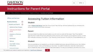 Davidson College Parent Portal