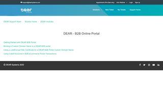 Dear B2b Portal