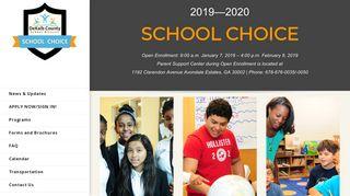 Dekalb School Choice Parent Portal