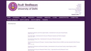 Delhi University Recruitment Portal