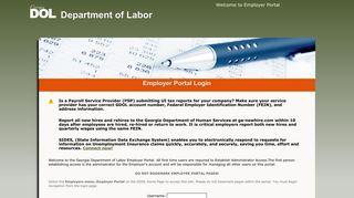 Department Of Labor Employer Portal