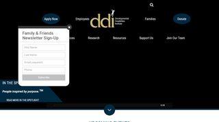 Developmental Disabilities Institute Employee Portal