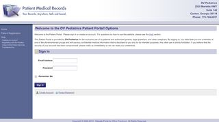 Dv Pediatrics Patient Portal