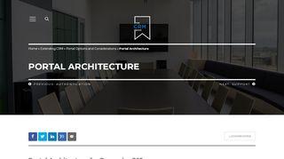 Dynamics 365 Portal Architecture