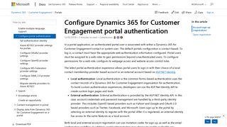 Dynamics 365 Portal Authentication