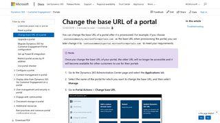 Dynamics 365 Portal Url