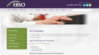 Ebso Provider Portal