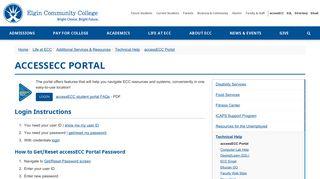 Elgin Community College Portal
