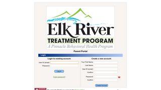 Elk River Treatment Program Parent Portal