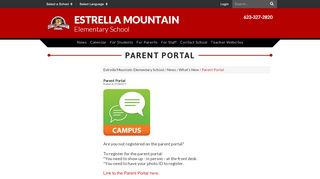 Estrella Mountain Elementary School Parent Portal