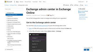 Exchange Web Portal