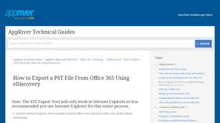 Export Mail From Office 365 Portal