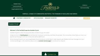 Fairfield Properties Resident Portal