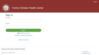 Family Christian Health Center Portal