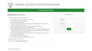 Fce Katsina Registration Portal