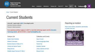 Fit Student Portal
