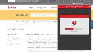 Frontier Voicemail Online Web Portal