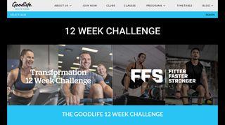 Goodlife 12 Week Challenge Portal