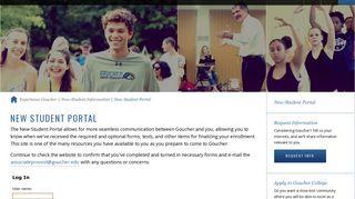 Goucher College New Student Portal