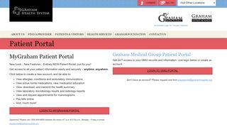 Graham Medical Group Patient Portal