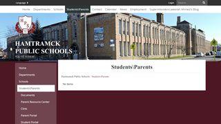 Hamtramck Student Portal