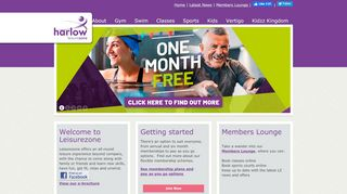 Harlow Leisurezone Home Portal