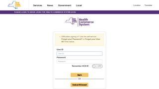 Health Commerce System Portal