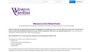 Health Portal Wcu