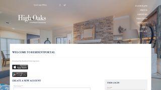 High Oaks Resident Portal